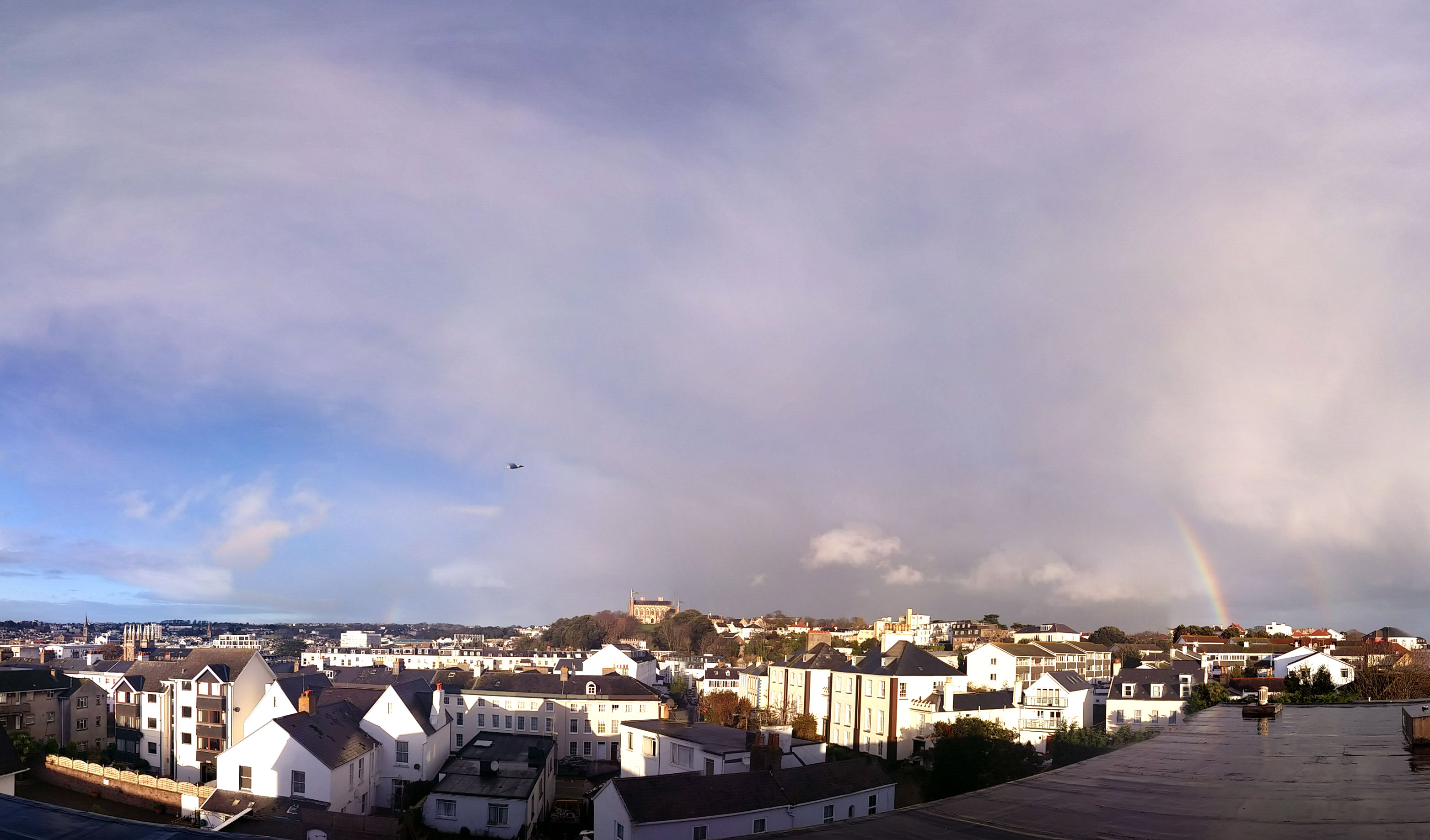 View over St. Helier from the Norfolk roof.